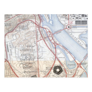 Map of the Pentagon Road System Post Card