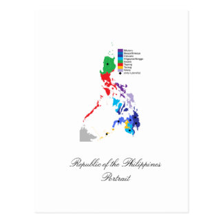 Map of the Philippines - Postcard