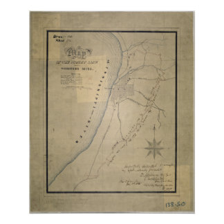Map of the Picket Line around Vicksburg, Miss Poster