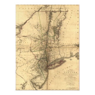 Map of the Province of New York by W. Faden (1776) Card