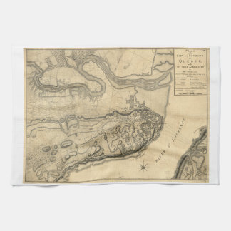 Map of the Province of Quebec Canada (1776) Hand Towel