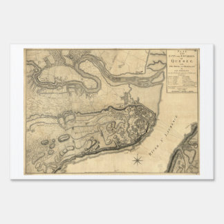 Map of the Province of Quebec Canada (1776) Lawn Sign
