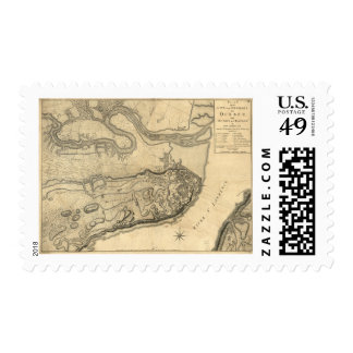 Map of the Province of Quebec Canada (1776) Postage Stamp