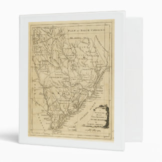Map of the Province of South Carolina (1779) 3 Ring Binder