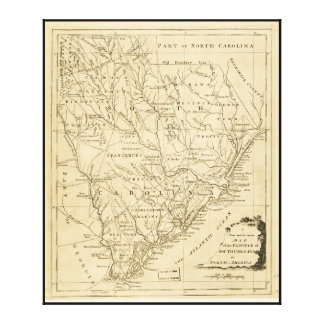 Map of the Province of South Carolina (1779) Canvas Print