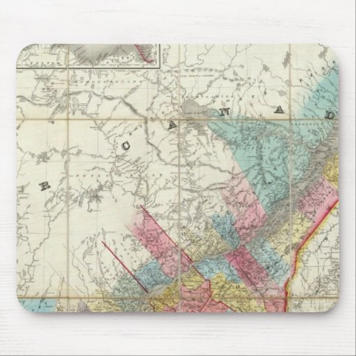 Map Of The Provinces Of Canada Mouse Pad
