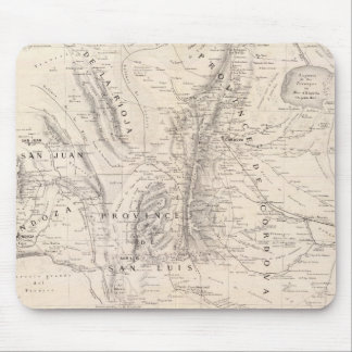 Map of the provinces of Cordova and San Luis Mouse Pad