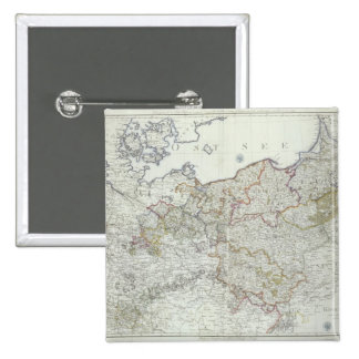 Map of the Prussian States in 1799 Pinback Button