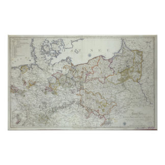 Map of the Prussian States in 1799 Poster