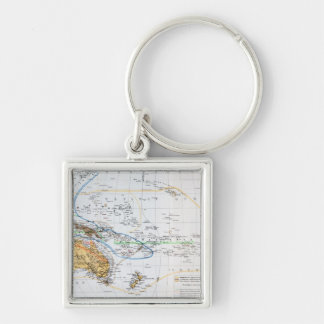 Map of the races of Oceania and Australasia Keychain