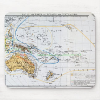 Map of the races of Oceania and Australasia Mouse Pad