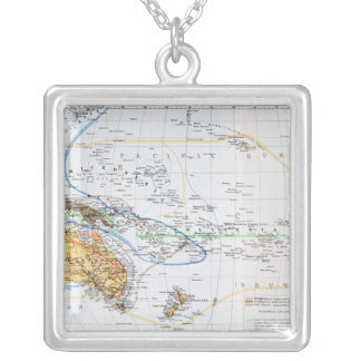 Map of the races of Oceania and Australasia Custom Jewelry
