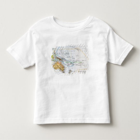Map of the races of Oceania and Australasia Toddler T-shirt