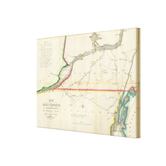 Map of the River St. Lawrence and Adjacent Country Canvas Print