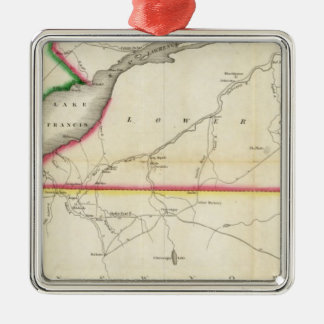 Map of the River St. Lawrence and Adjacent Country Metal Ornament