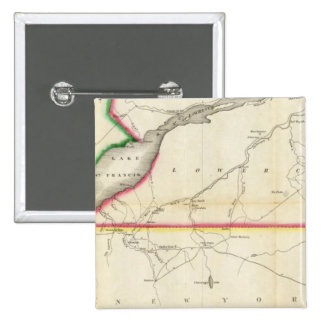 Map of the River St. Lawrence and Adjacent Country Pinback Button