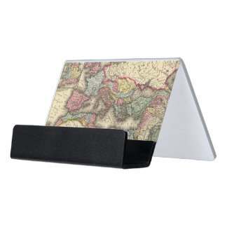 Map of the Roman Empire Desk Business Card Holder