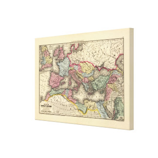 Map of the Roman Empire Gallery Wrap Canvas