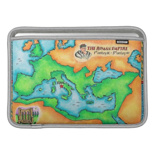 Map of the Roman Empire MacBook Sleeves