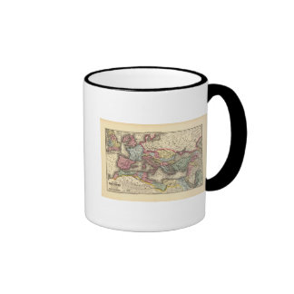 Map of the Roman Empire Ringer Coffee Mug