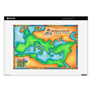 """Map of the Roman Empire 15"""" Laptop Decal"""