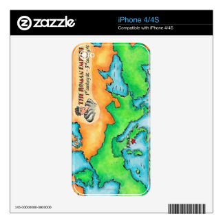 Map of the Roman Empire Skins For iPhone 4S