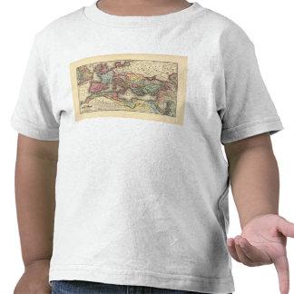 Map of the Roman Empire Tee Shirt