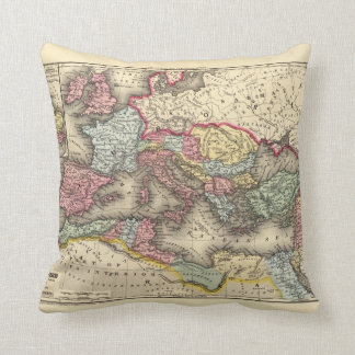 Map of the Roman Empire Throw Pillow