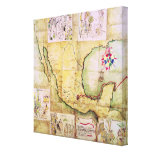 Map of the route followed by Hernando Cortes Canvas Print