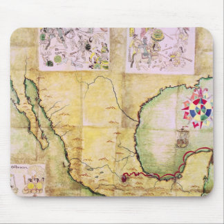 Map of the route followed by Hernando Cortes Mouse Pad
