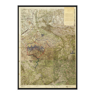 Map of the Ruhr Uprising March-April 1920 Canvas Print