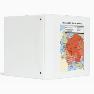Map of the Russian Civil War in the West 1918-1920 3 Ring Binder