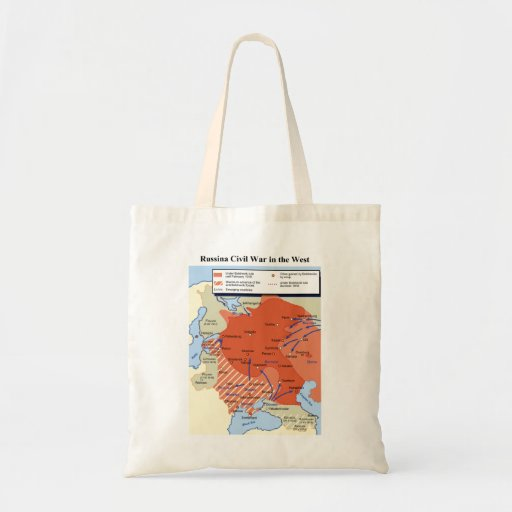 Map of the Russian Civil War in the West 1918-1920 Bag