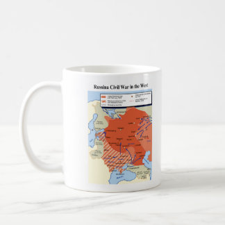 Map of the Russian Civil War in the West 1918-1920 Mug