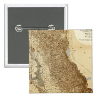 Map Of The San Joaquin Pinback Buttons