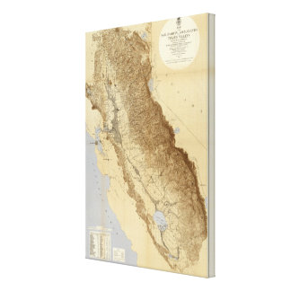 Map Of The San Joaquin Gallery Wrap Canvas