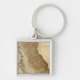 Map Of The San Joaquin Keychains