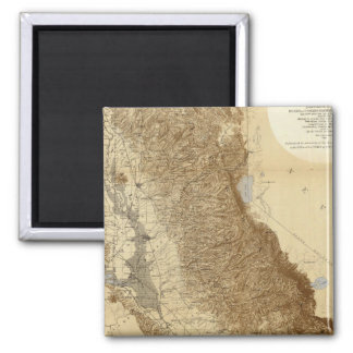 Map Of The San Joaquin Refrigerator Magnets