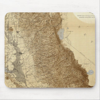 Map Of The San Joaquin Mouse Pad