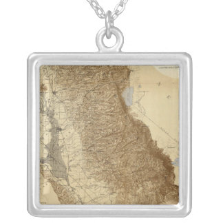 Map Of The San Joaquin Personalized Necklace