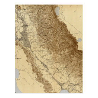 Map Of The San Joaquin Post Card