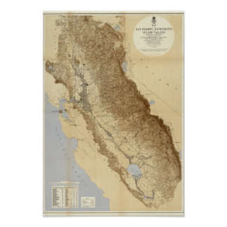 Map Of The San Joaquin Posters