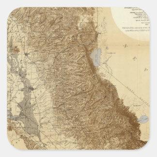Map Of The San Joaquin Square Sticker