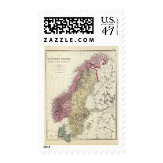 Map of the Scandinavian Kingdoms Postage