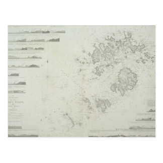 Map of the Scilly Isles in Britain Postcard