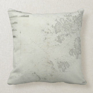 Map of the Scilly Isles in Britain Throw Pillow