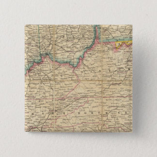 Map of The Seat of Civil War In America Button