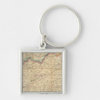 Map of The Seat of Civil War In America Keychain