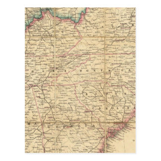 Map of The Seat of Civil War In America Post Card