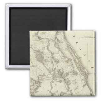 Map Of The Seat Of War In Florida 2 Inch Square Magnet
